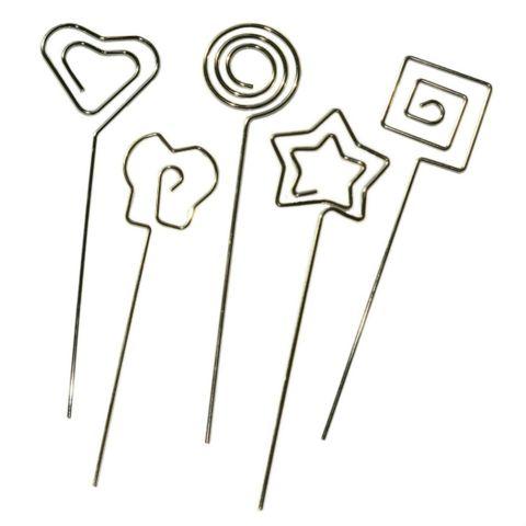 Notizhalter Set 25tlg - Herz, Stern, Schmetterling, Kreis, Viereck je 5x – Bild 1