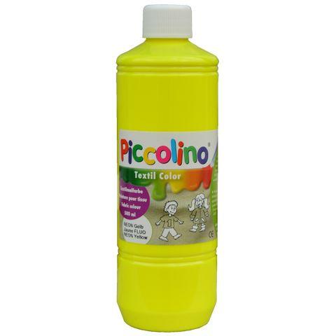 Piccolino Textilmalfarbe Neon-Gelb 500ml - Textilfarbe Stoff-Malfarbe