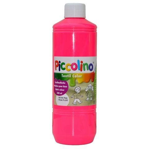 Piccolino Textilmalfarbe Neon-Pink 500ml - Textilfarbe Stoff-Malfarbe