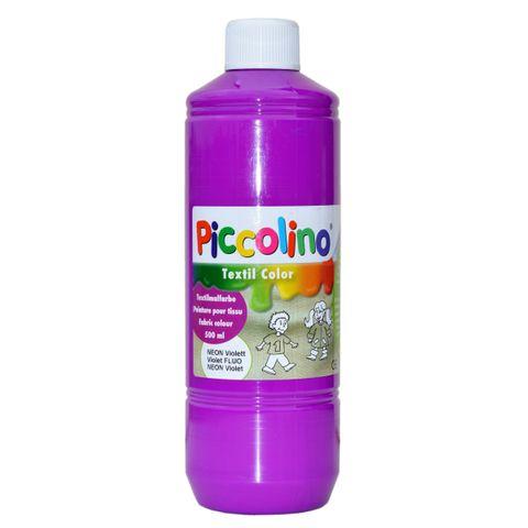 Piccolino Textilmalfarbe Neon-Violett 500ml - Textilfarbe Stoff-Malfarbe
