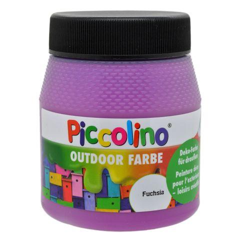 Piccolino Outdoor Dekofarbe Fuchsia 250ml - umweltfreundliche Bastelfarbe für draußen