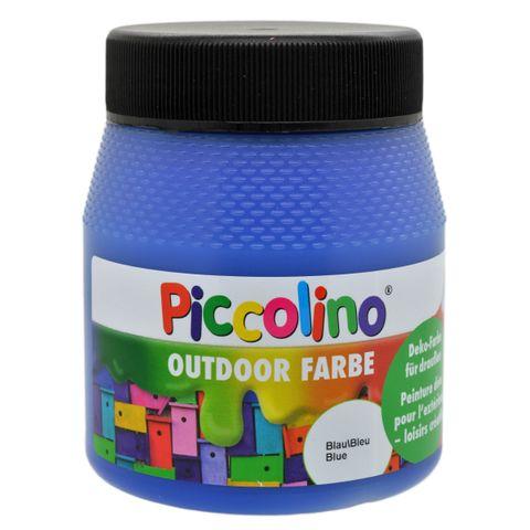 Piccolino Outdoor Dekofarbe Blau 250ml - umweltfreundliche Bastelfarbe für draußen