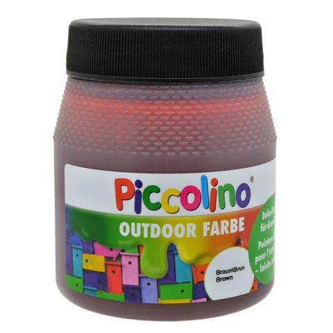 Piccolino Outdoor Dekofarbe Braun 250ml - umweltfreundliche Bastelfarbe für draußen