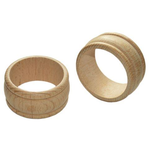 Serviettenring Holz unbehandelt 10 Stk - gedrechselter Serviettenring aus Holz – Bild 2