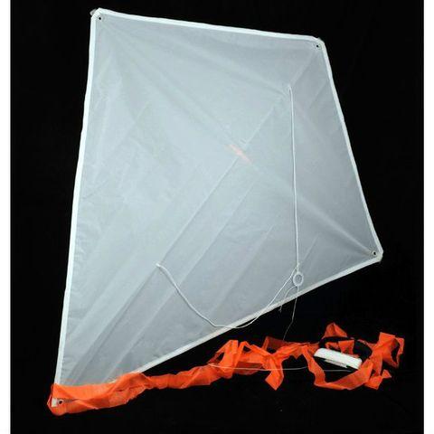 Drachen zum Bemalen weiß, 70x60cm, 30m Schnur - 10 Stück