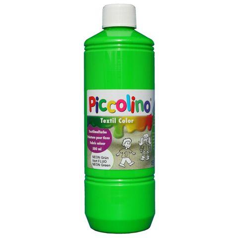 PICCOLINO Stoffmalfarben Neon - Textilfarben Set 5 Neon-Farben je 500ml – Bild 4