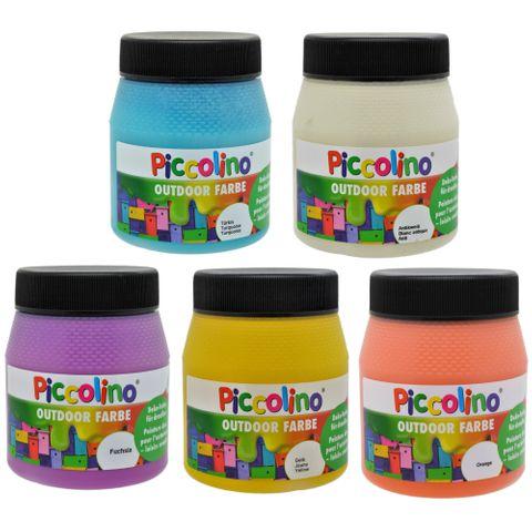 Outdoor Dekofarben Set 5x250ml - Frühlingsfarben - Bastelfarben Set für draußen – Bild 1