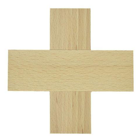 Blanko Holzkreuz - Wand-Kreuz gleichschenklig zum Basteln & Bemalen 12x12cm