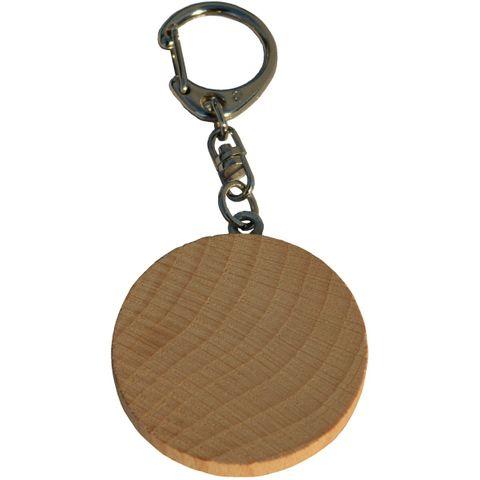 Schlüsselanhänger Holzscheibe natur 4cm - zum Basteln Bemalen Selbstgestalten