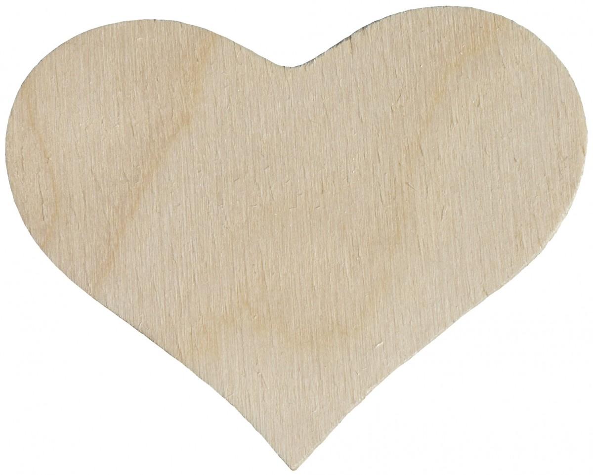10 Holzherzen natur 7cm - Hochzeit Streudeko Namensschild zum Basteln & Beschriften