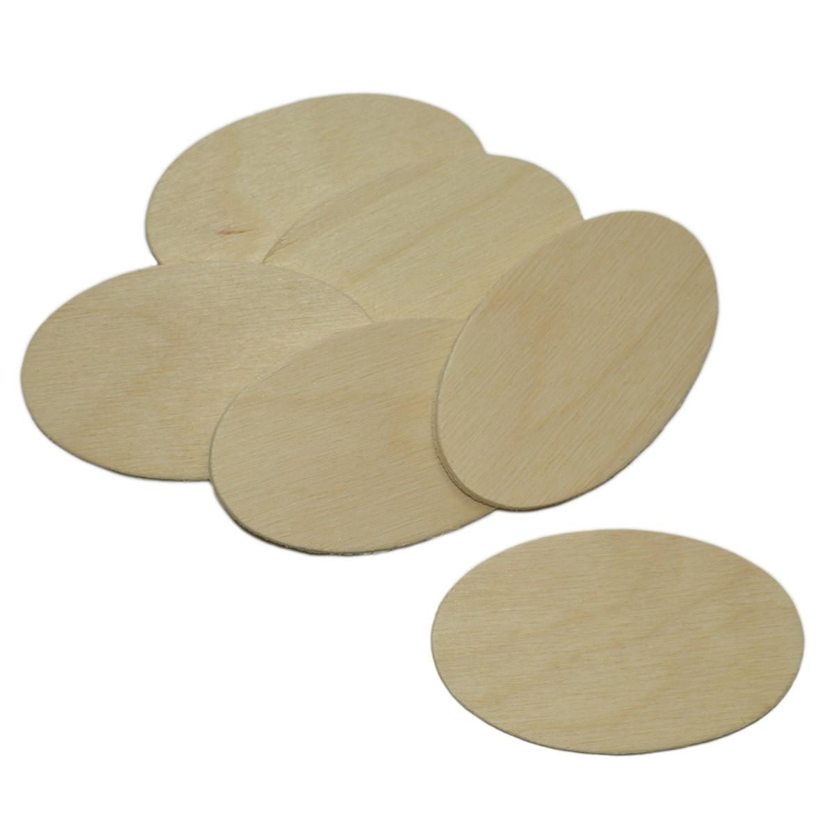 10 holzscheiben oval 7x4cm namensschild holz zum basteln bemalen beschriften. Black Bedroom Furniture Sets. Home Design Ideas