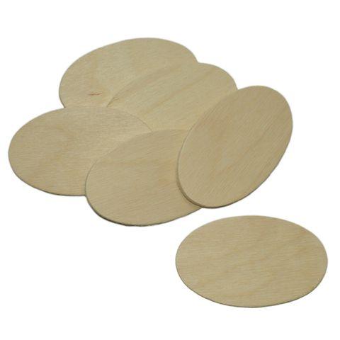 10 Holzscheiben oval 7x4cm - Namensschild Holz zum Basteln Bemalen Beschriften – Bild 1