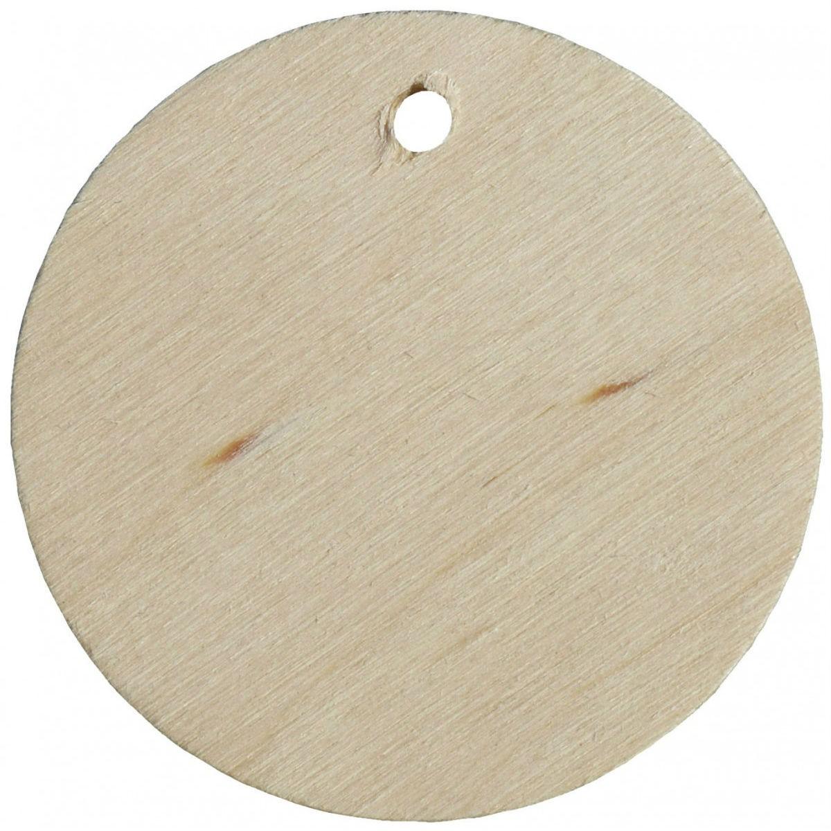 10 holzscheiben rund 5cm namensschild holz zum basteln. Black Bedroom Furniture Sets. Home Design Ideas