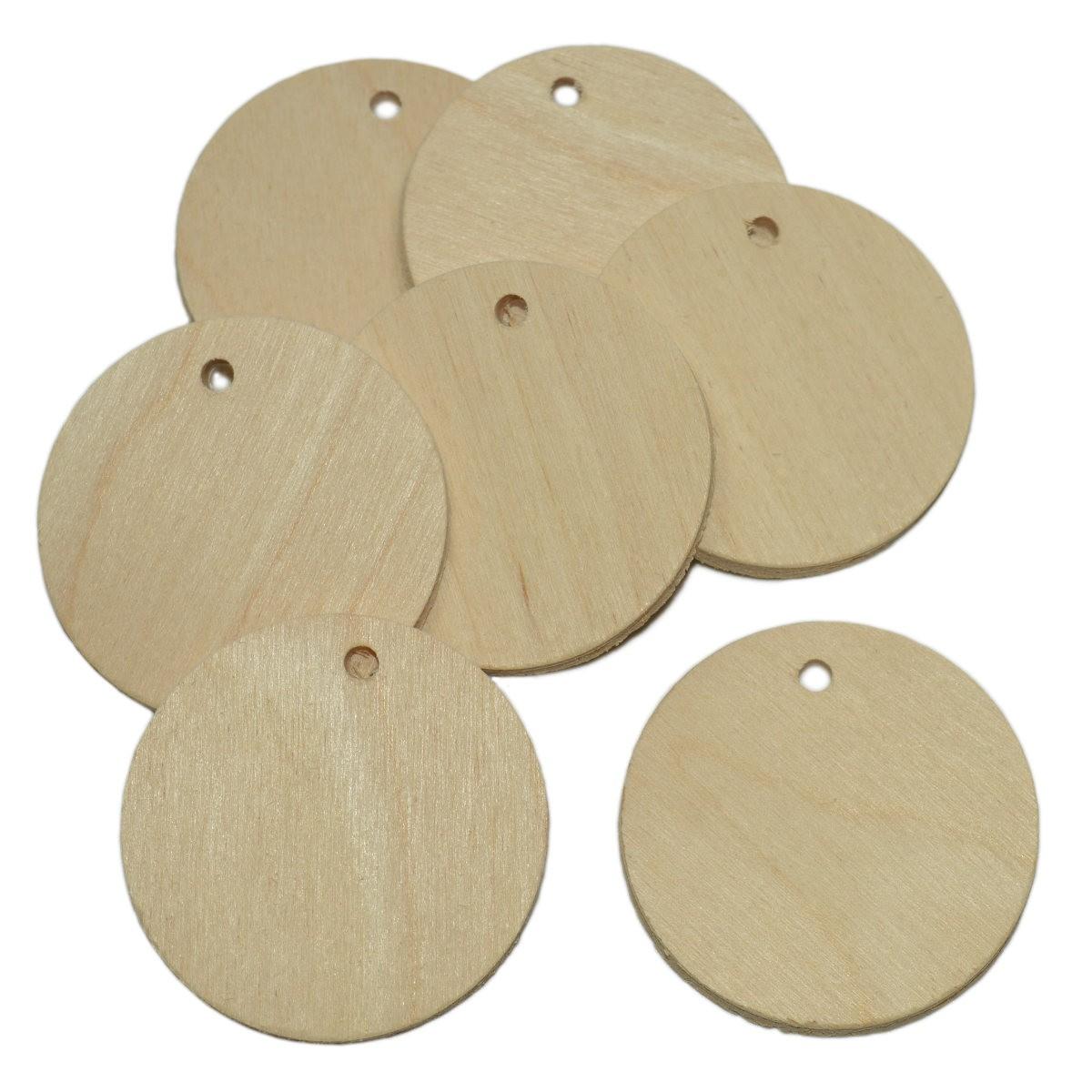 10 Holzscheiben Rund 5cm Namensschild Holz Zum Basteln Bemalen