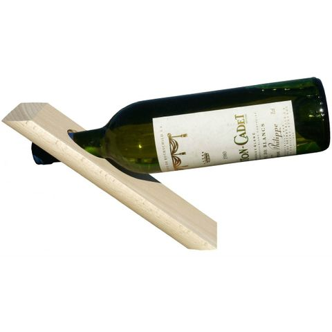 Flaschenständer Weinflaschenhalter aus Holz natur - Flaschenhalter Weinhalter freistehender – Bild 1
