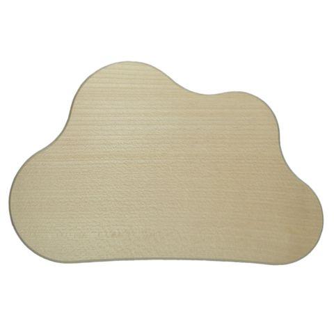 Holzschild Türschild Holz blanko - Wolke 21cm - zum individuellen Selbstgestalten – Bild 1