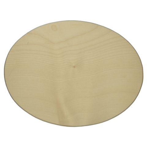 Holzschild Türschild Holz oval - 18x12cm - blanko zum individuellen Selbstgestalten – Bild 1