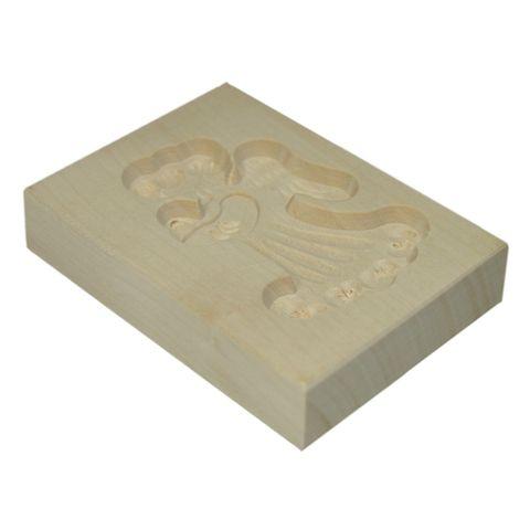 Spekulatius-Ausstechform - Holz Spekulatiusform Engel 6x8cm - 1 Stück – Bild 2