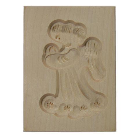 Spekulatius-Ausstechform - Holz Spekulatiusform Engel 6x8cm - 1 Stück – Bild 1