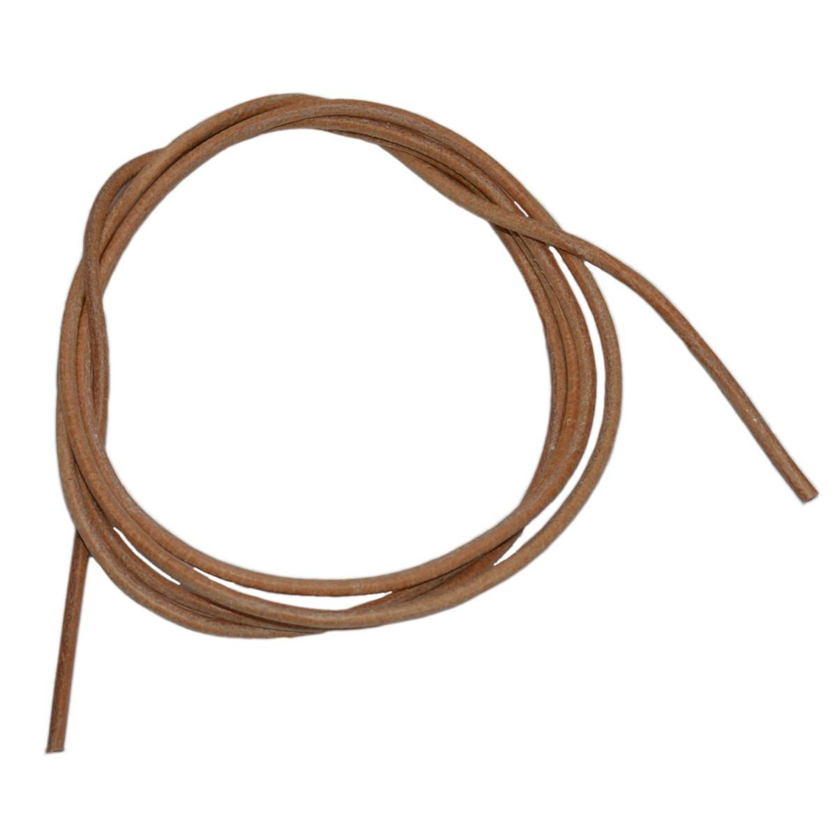 lacet en cuir rond 2mm cordon en cuir pour bijoux cordon lani re lacet cuir coloris brun. Black Bedroom Furniture Sets. Home Design Ideas