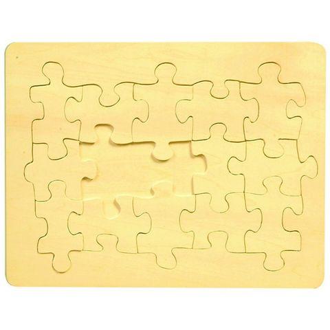 Holzpuzzle blanko unbedruckt 15 Teile 29x21cm zum selber Bemalen & Gestalten