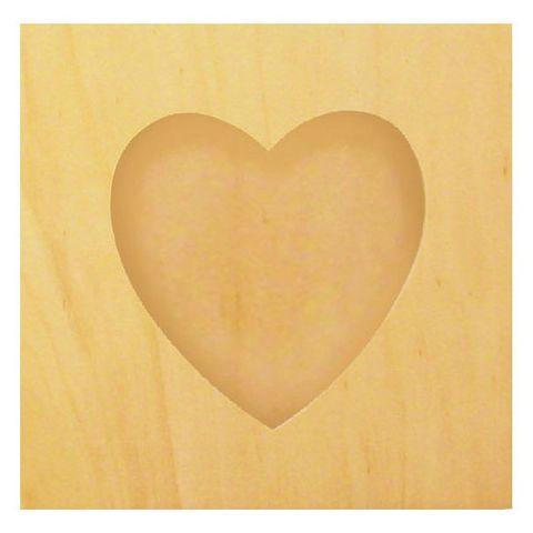 Bilderrahmen Herz - Holz Fotorahmen natur, Bildausschnitt Herzform, zum Bemalen