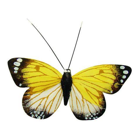 Kühlschrankmagnet - Deko Schmetterling bunt mit Magnet & Klammer, 9x5cm – Bild 1