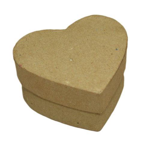 Schachtel Herz - Karton-Schachtel Pappschachtel Herzbox, 56x55x28mm