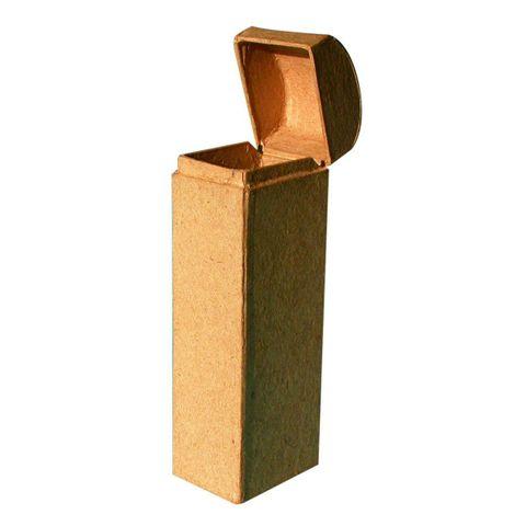 Karton Brillenetui - Pappe natur zum Selbstgestalten & Basteln, 15x5x3,8cm