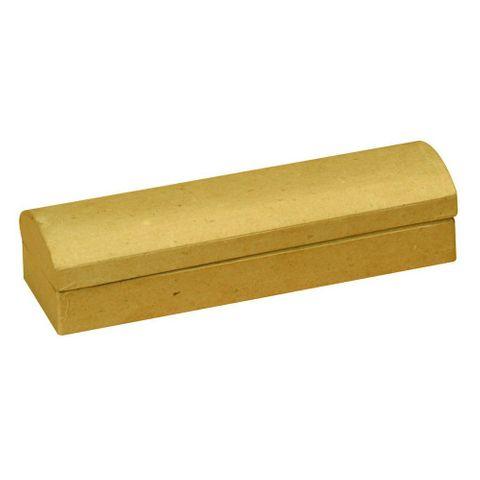 Stifteschachtel - Karton Stiftebox - Pappe natur zum Selbstgestalten 225x70x45mm