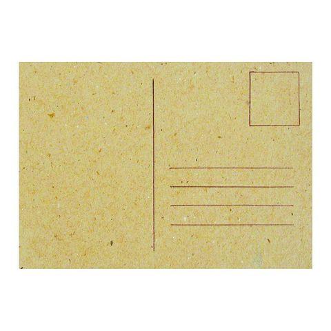 Karton Postkarte - Pappe natur Grußkarte zum Bemalen & Selbstgestalten, 1 Stk