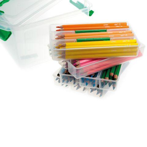 Dicke Buntstifte - Set mit 120 Farbstifte 10x12 Farben, Sechskant 5mm dicke Mine in Kunststoffbox – Bild 1