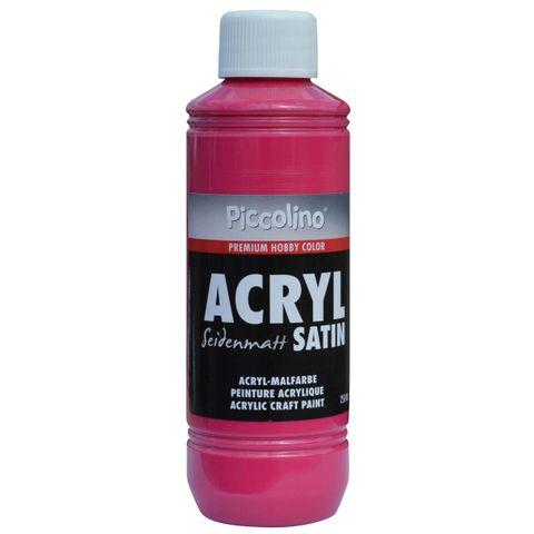 Acrylfarbe seidenmatt Primär-Rot 250ml Flasche - Piccolino Acryl Satin, Premium Hobby Color – Bild 1