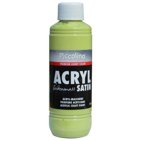 Acrylfarbe seidenmatt Kiwi 250ml Flasche - Piccolino Acryl Satin, Premium Hobby Color – Bild 1