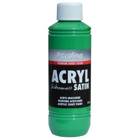 Acrylfarbe seidenmatt Grün 250ml Flasche - Piccolino Acryl Satin, Premium Hobby Color – Bild 1