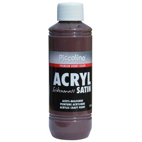 Acrylfarbe seidenmatt Braun 250ml Flasche - Piccolino Acryl Satin, Premium Hobby Color – Bild 1