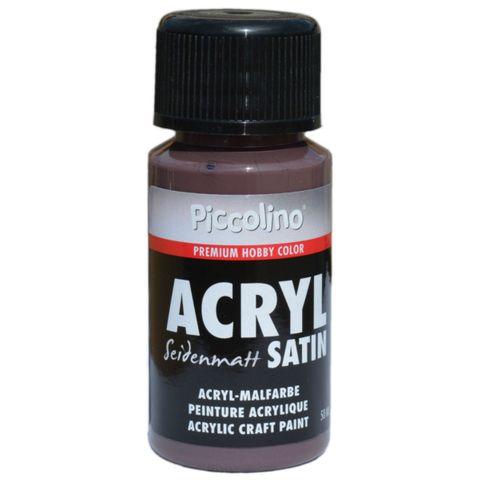 Acrylfarbe seidenmatt, Braun 50ml - Piccolino Acryl Satin - Premium Hobby Color – Bild 1
