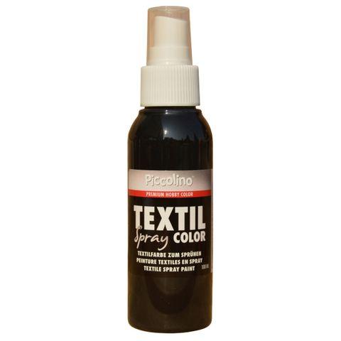 PICCOLINO Textil Spray - 100ml Graphit-Schwarz - Textilfarbe zum Sprühen – Bild 1