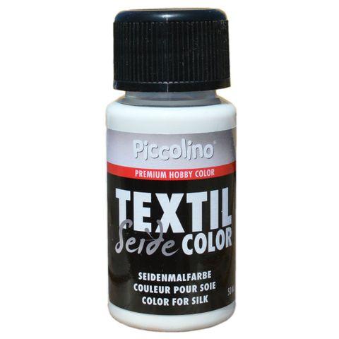 Seidenmalfarbe Weiß 50ml - Seidenfarbe Piccolino Textil Color zum Malen - Textilfarbe Seide – Bild 1