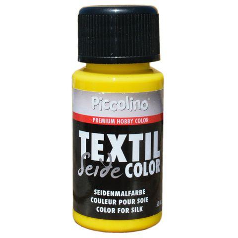 Seidenmalfarbe Zitronen-Gelb 50ml - Seidenfarbe Piccolino Textil Color - Textilfarbe Seide – Bild 1