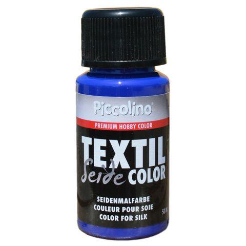 Seidenmalfarbe Königs-Blau 50ml - Seidenfarbe Piccolino Textil Color zum Malen - Textilfarbe Seide – Bild 1