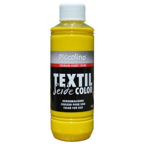 Seidenmalfarbe Zitronengelb 250ml - Seidenfarbe Piccolino Textil Color - Textilfarbe Seide – Bild 1