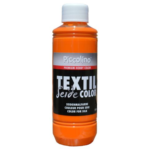 Seidenmalfarbe Gelb-Orange 250ml - Seidenfarbe Piccolino Textil Color - Textilfarbe Seide – Bild 1