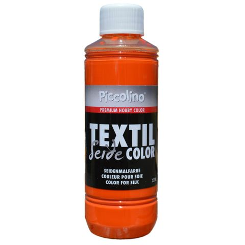 Seidenmalfarbe Orange 250ml - Seidenfarbe Piccolino Textil Color - Textilfarbe Seide – Bild 1
