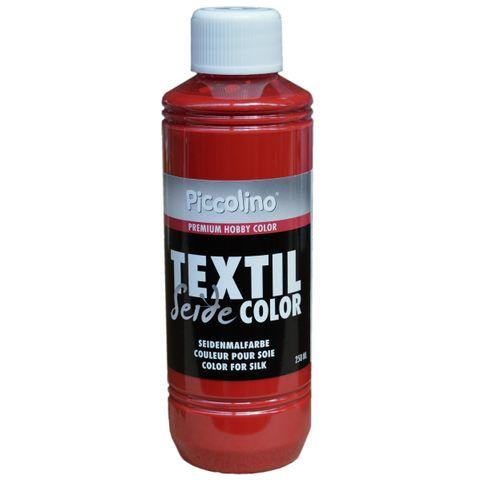 Seidenmalfarbe Rot 250ml - Seidenfarbe Piccolino Textil Color - Textilfarbe Seide – Bild 1