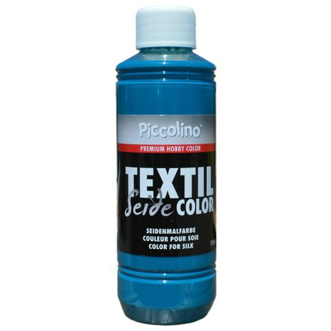 Seidenmalfarbe Türkis 250ml - Seidenfarbe Piccolino Textil Color - Textilfarbe Seide – Bild 1