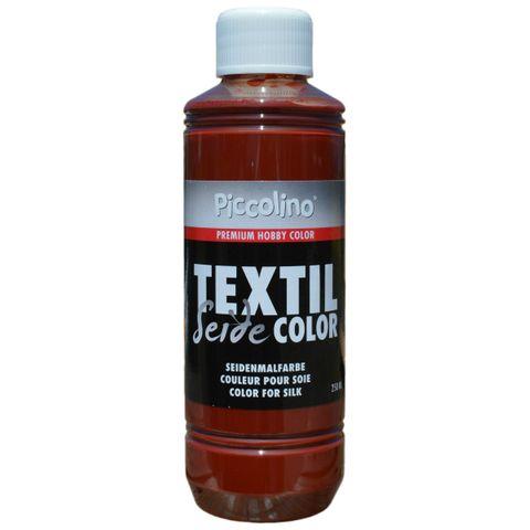 Seidenmalfarbe Cognac 250ml - Seidenfarbe Piccolino Textil Color zum Malen - Textilfarbe Seide – Bild 1