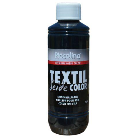 Seidenmalfarbe Schwarz 250ml - Seidenfarbe Piccolino Textil Color - Textilfarbe Seide – Bild 1