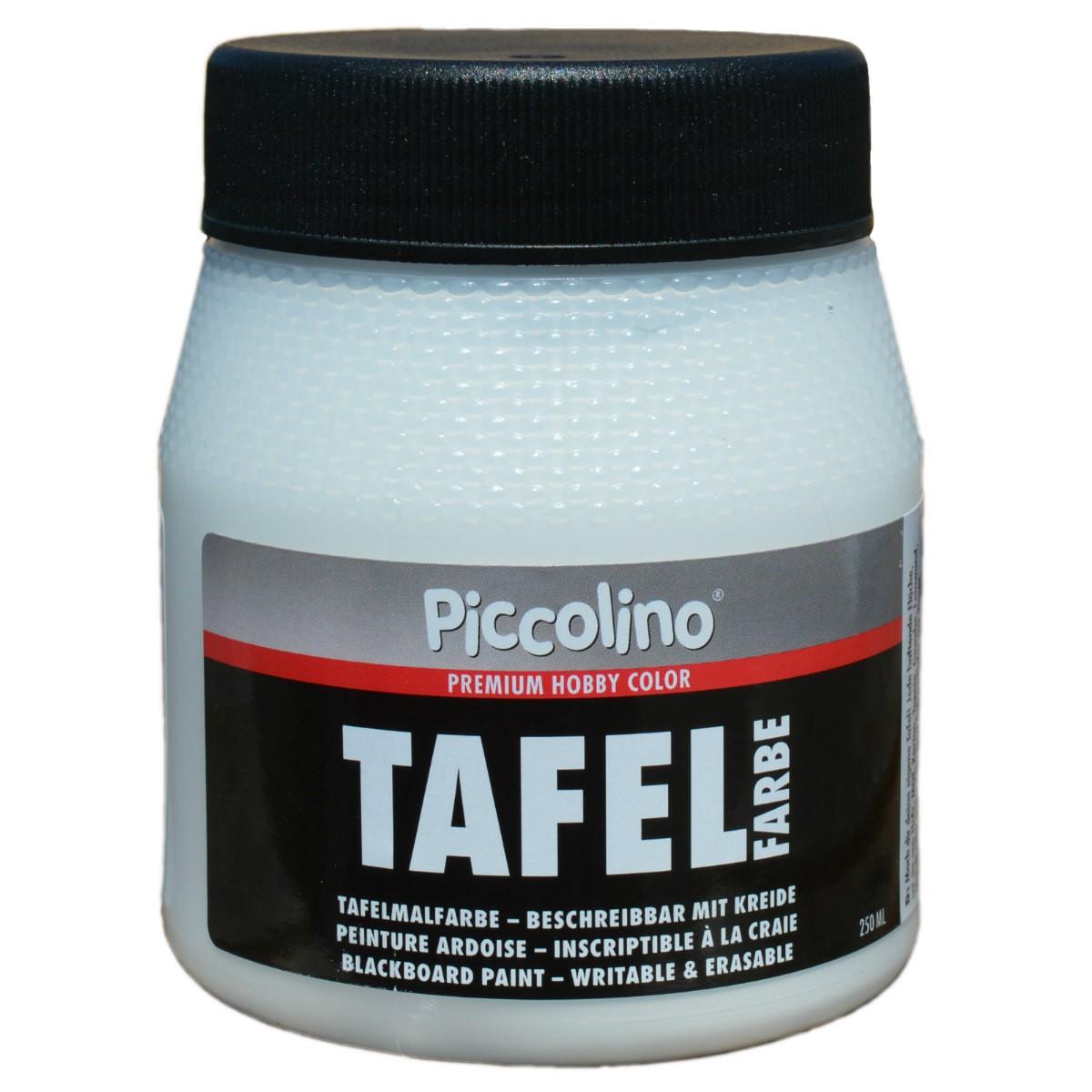 Piccolino peinture ardoise blanc 250ml peinture tableau murale criture la craie for Peinture nacree murale