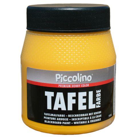 Tafelfarbe Gelb 250ml - Piccolino Tafellack bunt für Holz, Karton, Wand – Bild 1